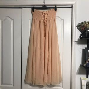 Free People Peach Chiffon Dress